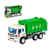 """Polesie 86389 """"City"""" samochód komunalny, inercyjny zielony (ze światłem i dźwiękiem) w pudełku"""