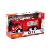 """Polesie 86396 """"City"""" samochód - straż pożarna, inercyjny (ze światłem i dźwiękiem) w pudełku"""