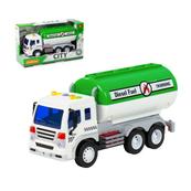 """Polesie 86402 """"City"""" samochód z cysterną, inercyjny zielony (ze światłem i dźwiękiem) w pudełku"""