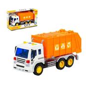 """Polesie 86426 """"City"""" samochód komunalny, inercyjny pomarańczowy (ze światłem i dźwiękiem) w pudełku"""