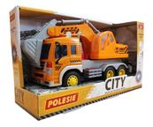 """Polesie 86433 """"City"""" samochód - koparka inercyjny pomarańczowy (ze światłem i dźwiękiem) w pudełku"""