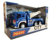 """Polesie 86525 """"City"""" samochód ewakuator, inercyjny niebieski (ze światłem i dźwiękiem) w pudełku"""
