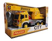 """Polesie 86532 """"City"""" samochód - dźwig, inercyjny żółty (ze światłem i dźwiękiem) w pudełku"""