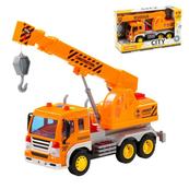 """Polesie 86556 """"City"""" samochód - dźwig, inercyjny pomarańczowy (ze światłem i dźwiękiem) w pudełku"""