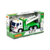 """Polesie 86563 """"City"""" samochód - ewakuator, inercyjny zielony (ze światłem i dźwiękiem) w pudełku"""