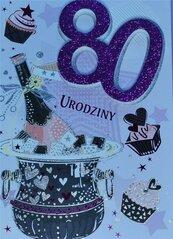 Karnet Przestrzenny B6 Urodziny 80 kobieta