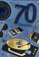 Karnet Przestrzenny B6 Urodziny 70 mężczyzna