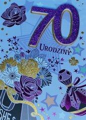 Karnet Przestrzenny B6 Urodziny 70 kobieta