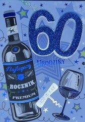 Karnet Przestrzenny B6 Urodziny 60 mężczyzna