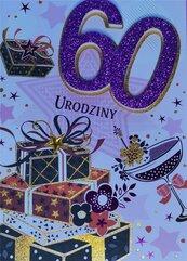 Karnet Przestrzenny B6 Urodziny 60 kobieta