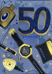 Karnet Przestrzenny B6 Urodziny 50 mężczyzna