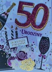 Karnet Przestrzenny B6 Urodziny 50 kobieta