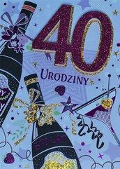 Karnet Przestrzenny B6 Urodziny 40 kobieta