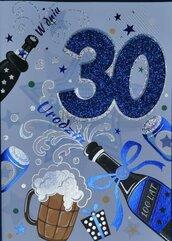 Karnet Przestrzenny B6 Urodziny 30 mężczyzna