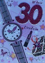 Karnet Przestrzenny B6 Urodziny 30 kobieta