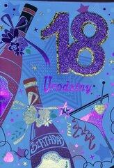 Karnet Przestrzenny B6 Urodziny 18 szampan