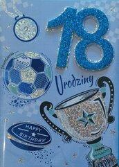 Karnet Przestrzenny B6 Urodziny 18 sport