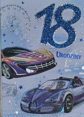 Karnet Przestrzenny B6 Urodziny 18 samochód