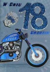 Karnet Przestrzenny B6 Urodziny 18 motor