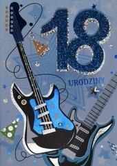 Karnet Przestrzenny B6 Urodziny 18 gitary