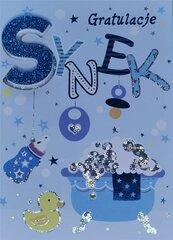 Karnet Przestrzenny B6 Narodziny chłopiec wanna