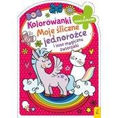 Kolorowanki z naklejkami Moje śliczne jednorożce i inne magiczne zwierzaki
