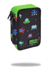 Piórnik potrójny z wyposażeniem - Jumper 3 - Pixels Coolpack