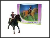 Koń z jeźdźcem - 2 rodzaje 10cm w pud.