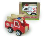 Pojazdy drewniane pierwsza pomoc 3rodzaje HIPO mix Cena za 1szt
