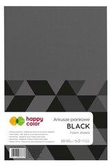 Arkusze piankowe A4 5szt czarne HAPPY COLOR