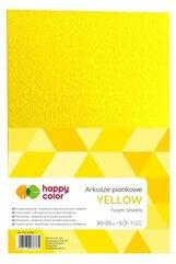 Arkusze piankowe A4 5szt żółte HAPPY COLOR