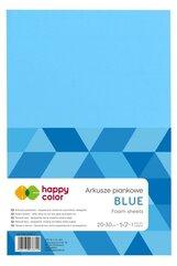 Arkusze piankowe A4 5szt niebieskie HAPPY COLOR