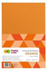 Arkusze piankowe A4 5szt pomarańcz HAPPY COLOR