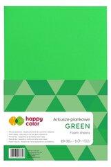 Arkusze piankowe A4 5szt zielone HAPPY COLOR