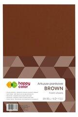 Arkusze piankowe A4 5szt brązowy HAPPY COLOR
