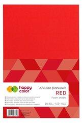 Arkusze piankowe A4 5szt czerwone HAPPY COLOR