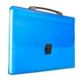 Teczka harmonijkowa PP z rączką (13) A4 niebieska