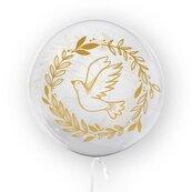 Balon 45cm Gołąb złoty TUBAN