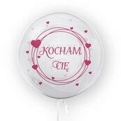 Balon 45cm Kocham Cię różowy TUBAN
