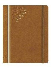 Kalendarz 2022 B7 Flex z gumką brązowy