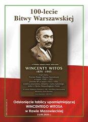 100-lat Bitwy Warszawskiej. Odsłonięcie tablicy Wincentego Witosa w Rawie Mazowieckiej