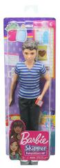 Barbie Lalka Ken Opiekun dziecięcy koszulka w paski FNP43 MATTEL