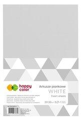 Arkusze piankowe A4 5szt białe HAPPY COLOR