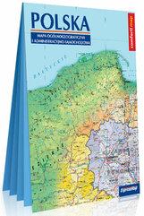 Polska Mapa ogólnogeograficzna i administracyjno-samochodowa laminowana mapa XXL 1:1 000 000