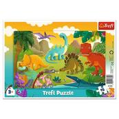 Puzzle 15el ramkowe Dinozaury 31359 Trefl p20