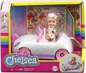 Barbie Chelsea + autko i piesek
