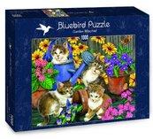 Puzzle 1000 Małe kotki w ogrodzie