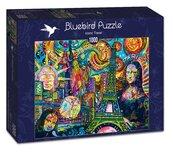 Puzzle 1000 Ikony podróży