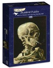 Puzzle 1000 Głowa szkieletu z płonącym papierosem