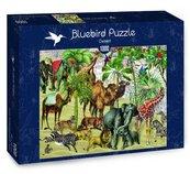 Puzzle 1000 Afrykańskie zwierzęta na pustyni